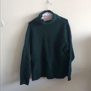 Comfy green turtleneck sweater